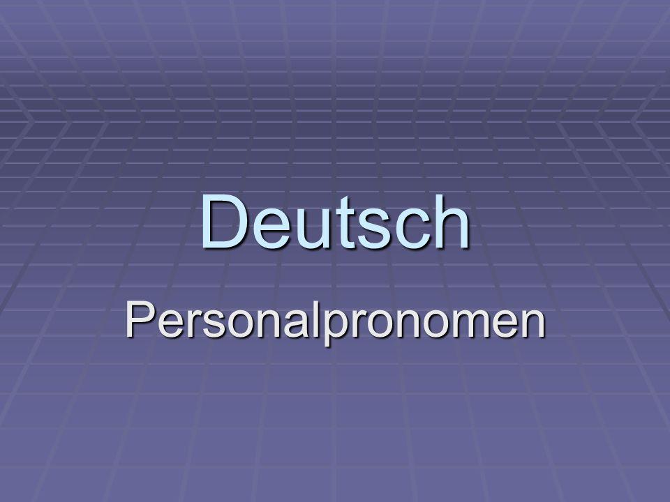 Deutsch Personalpronomen