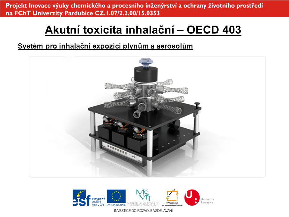 Akutní toxicita inhalační – OECD 403 Systém pro inhalační expozici plynům a aerosolům