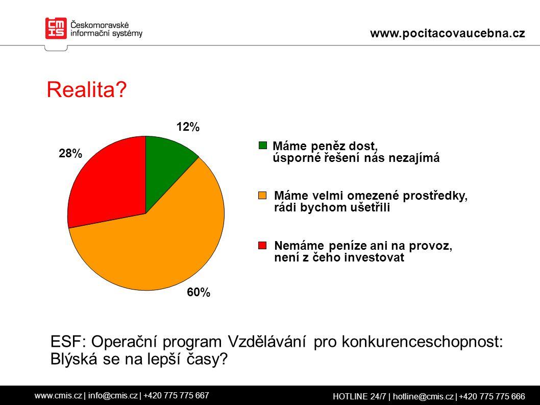 www.cmis.cz | info@cmis.cz | +420 775 775 667 HOTLINE 24/7 | hotline@cmis.cz | +420 775 775 666 Efektivní využívání prostředků.