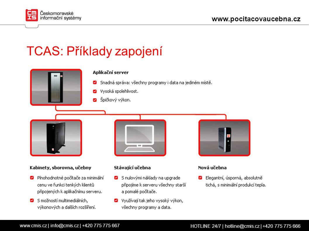 TCAS: Příklady zapojení www.cmis.cz | info@cmis.cz | +420 775 775 667 HOTLINE 24/7 | hotline@cmis.cz | +420 775 775 666 www.pocitacovaucebna.cz