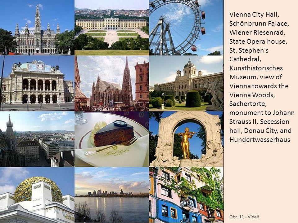 Obr.11 - Vídeň Vienna City Hall, Schönbrunn Palace, Wiener Riesenrad, State Opera house, St.