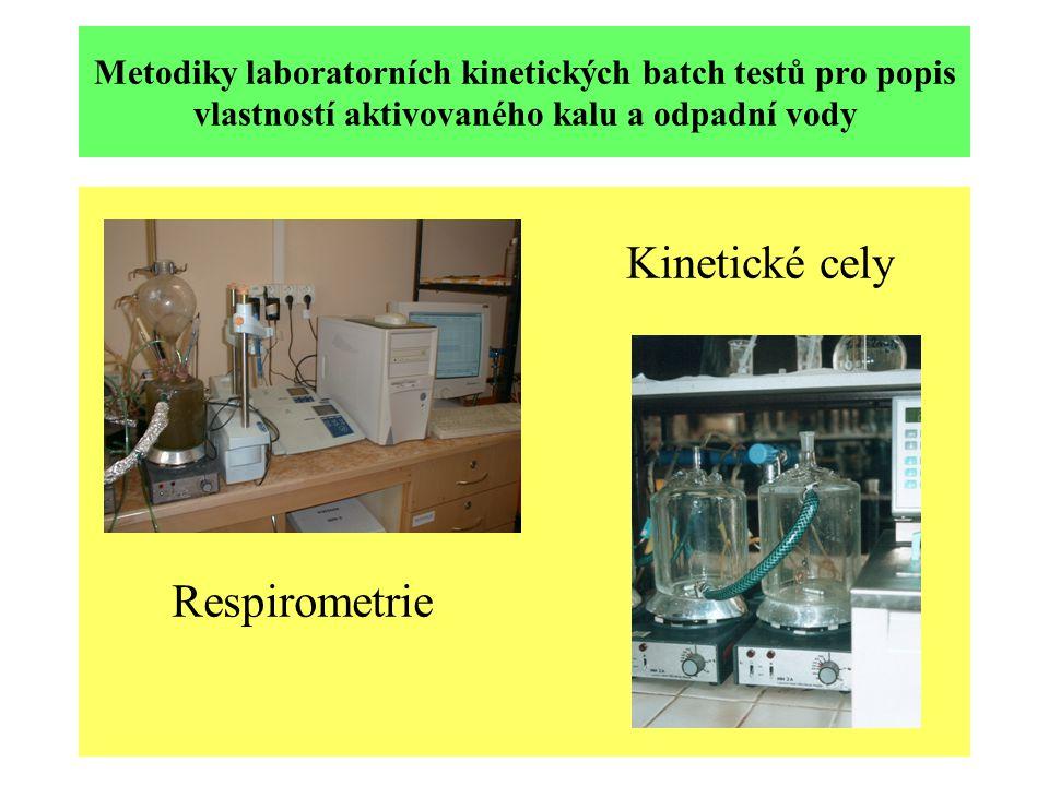 Metodiky laboratorních kinetických batch testů pro popis vlastností aktivovaného kalu a odpadní vody Respirometrie Kinetické cely