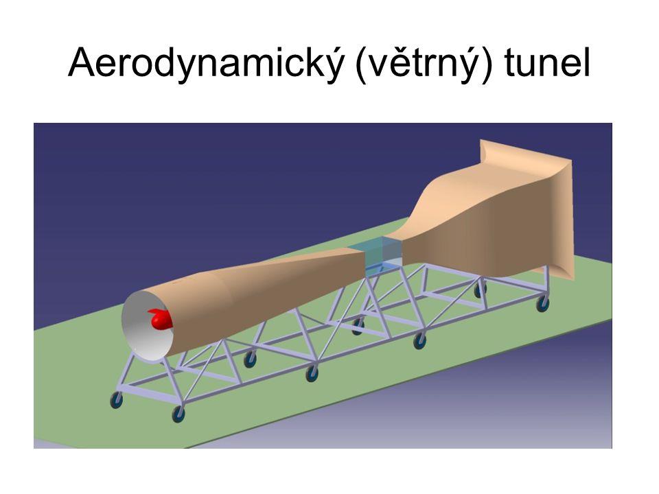 Využití tunelu Měření větrného odporu Úspora energií Studie obtékání vzduchu Vlivy na rychlost Hlučnost Měření vztlaku