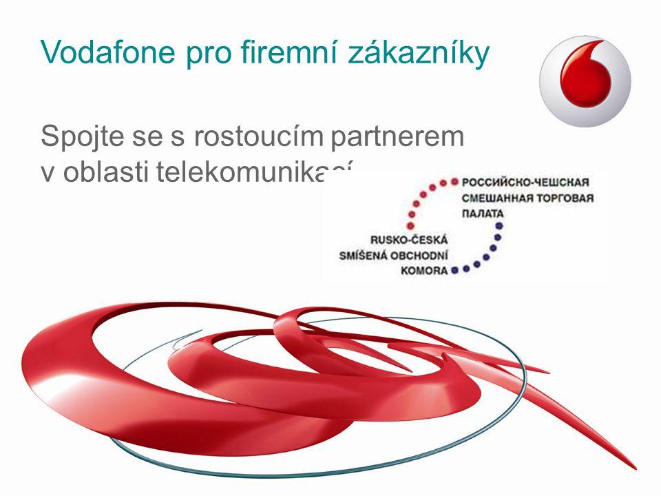 Vodafone pro Váš business Dlouhodobě nejvyšší spokojenost v segmentu firemních zákazníků Péče o naše zákazníky –Přidělený obchodní zástupce pro Vaši společnost –Osobní konzultant zákaznické péče OneNet –Neomezené volání v rámci firmy zdarma –OneNet samoobsluha –Jednoduchost Unikátní produkty – MDM, M2M, Office 365 Profesionálně zvládnutý proces přenosu telefonního čísla