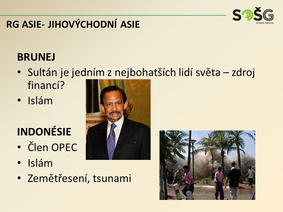 BRUNEJ Sultán je jedním z nejbohatších lidí světa – zdroj financí.