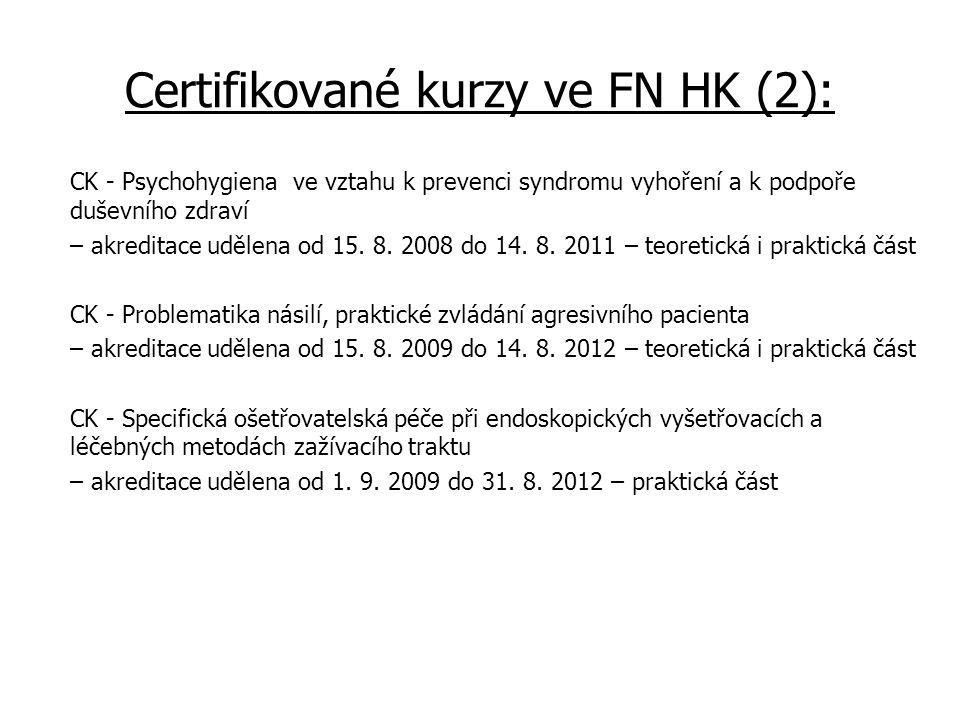 Certifikované kurzy ve FN HK (2): CK - Psychohygiena ve vztahu k prevenci syndromu vyhoření a k podpoře duševního zdraví – akreditace udělena od 15.