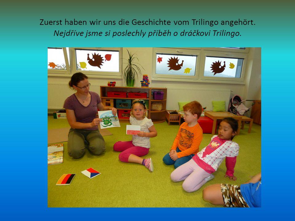 Zuerst haben wir uns die Geschichte vom Trilingo angehört.