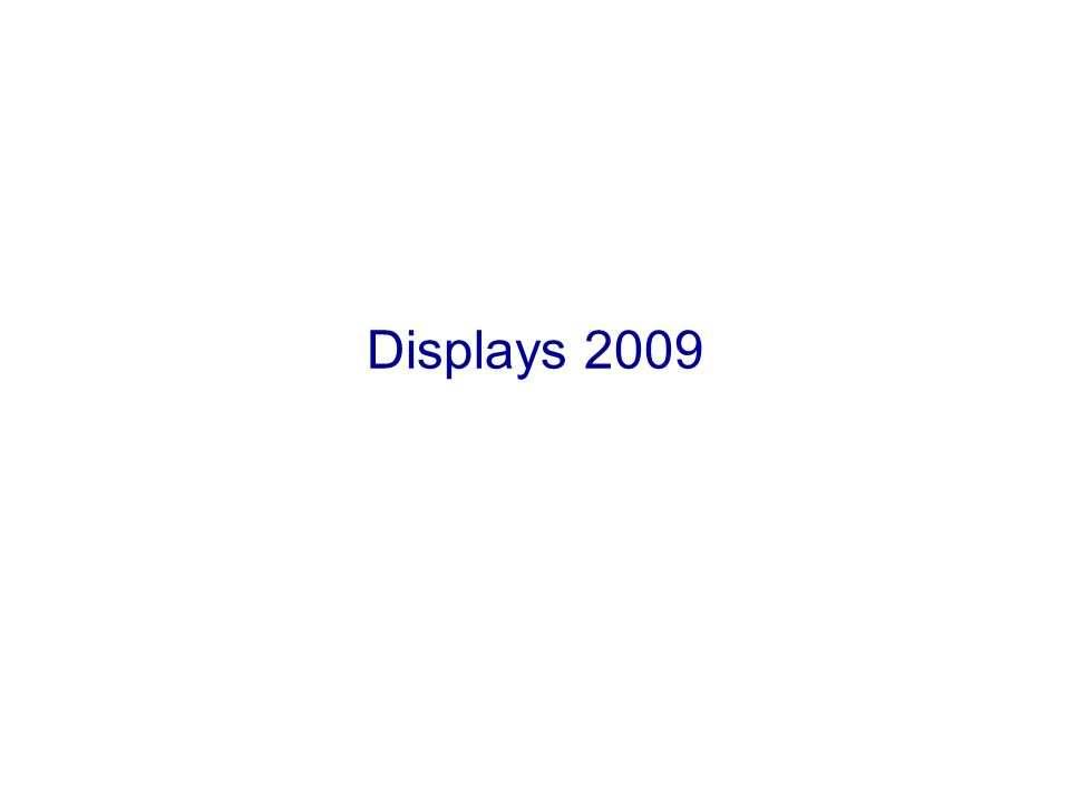 Displays 2009