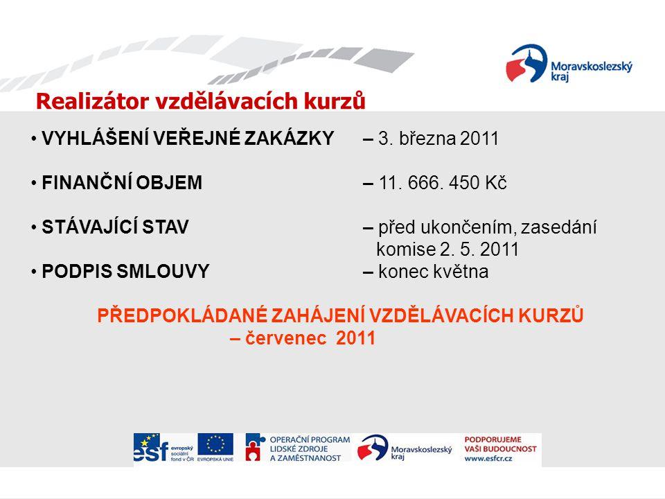 Realizátor vzdělávacích kurzů VYHLÁŠENÍ VEŘEJNÉ ZAKÁZKY – 3.