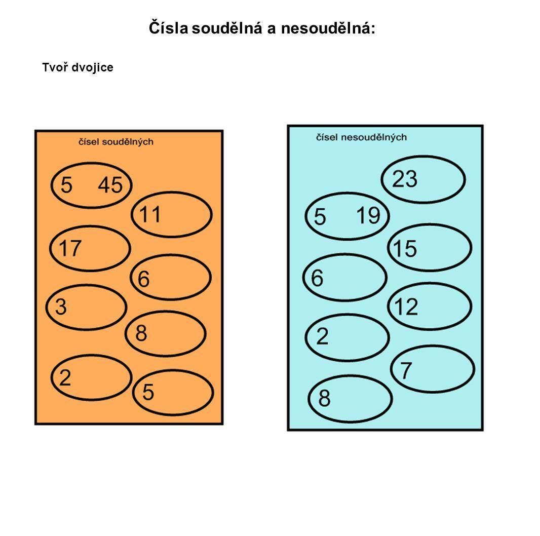 Čísla soudělná a nesoudělná: Tvoř dvojice