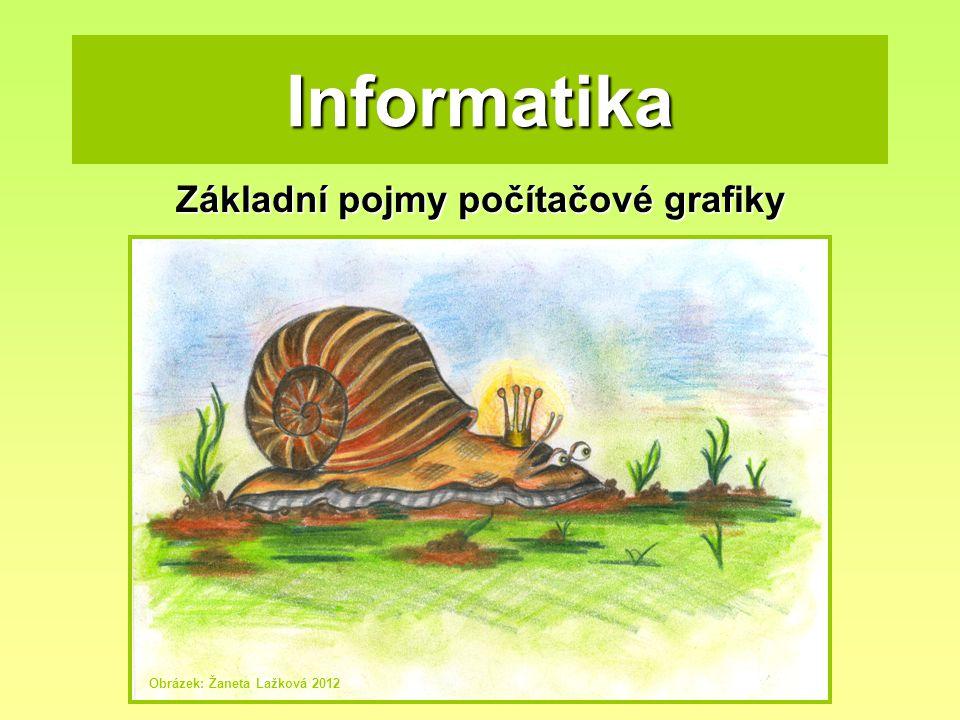 Informatika Základní pojmy počítačové grafiky Obrázek: Žaneta Lažková 2012