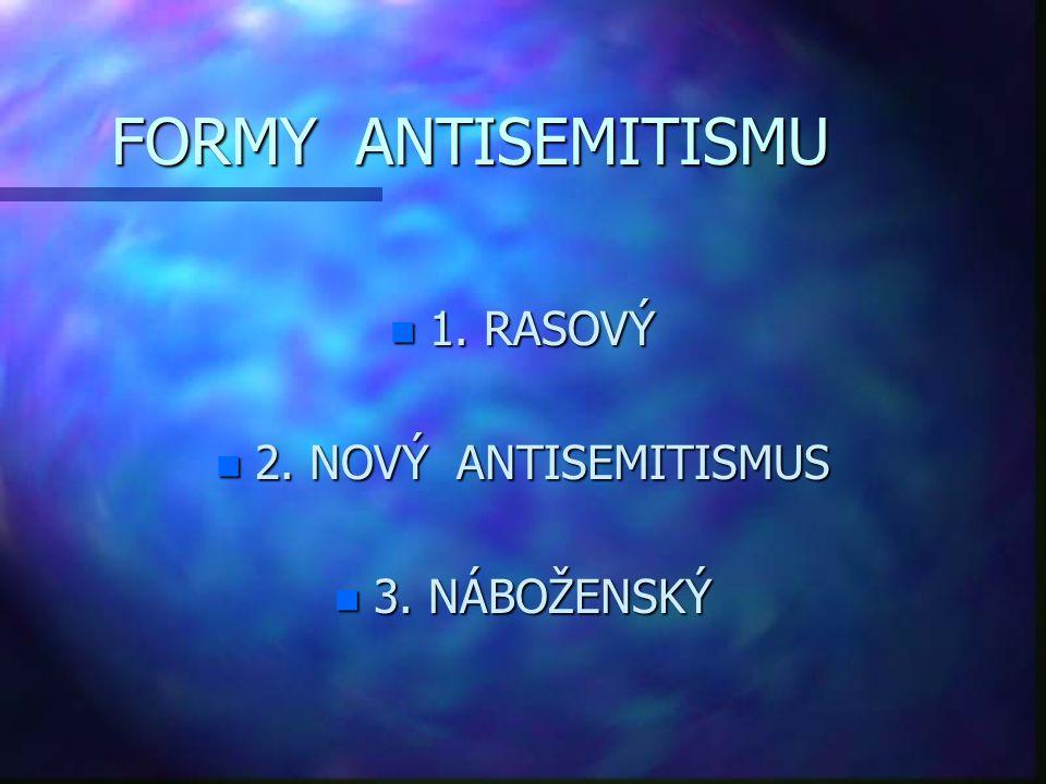 RASOVÝ ANTISEMITISMUS   od konce 19.
