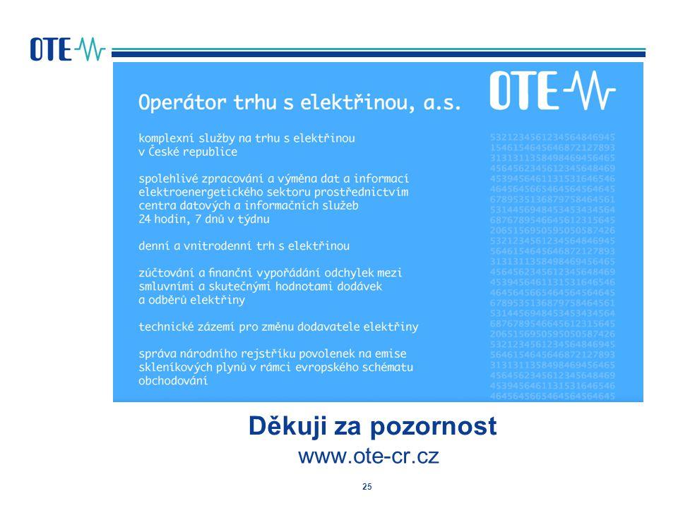 25 Děkuji za pozornost www.ote-cr.cz