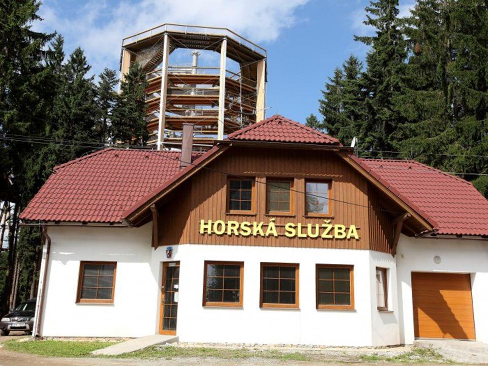Vyhlídková věž Stezka je zakončena 40 metrovou vyhlídkovou věží, která je opravdovým vrcholem stezky.