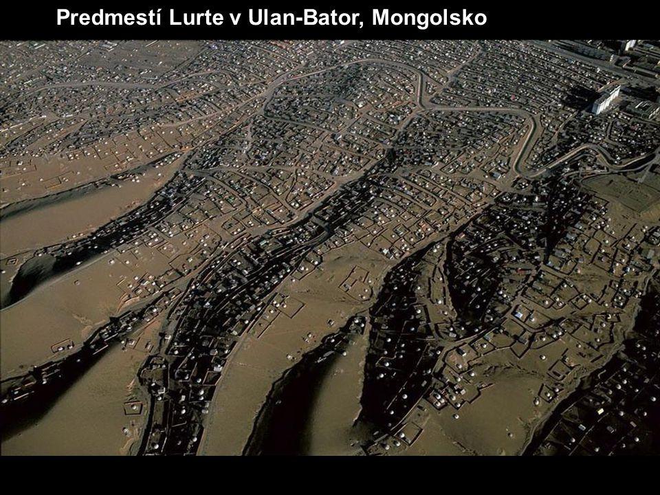 Predmestí Lurte v Ulan-Bator, Mongolsko