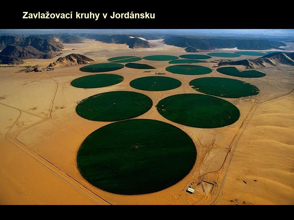 Zavlažovací kruhy v Jordánsku