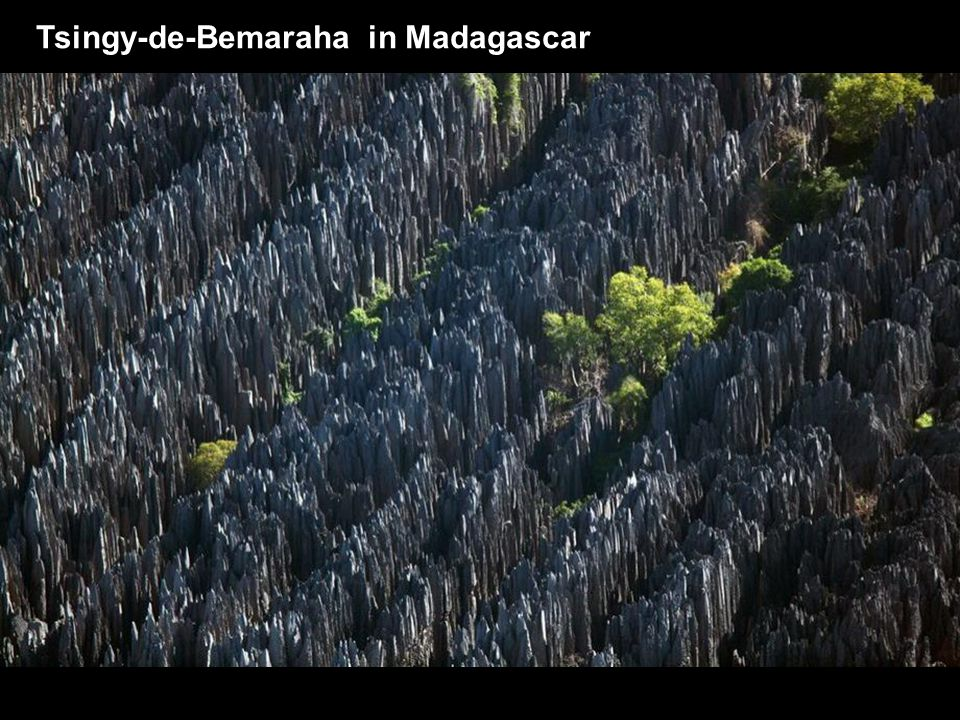 Tsingy-de-Bemaraha in Madagascar