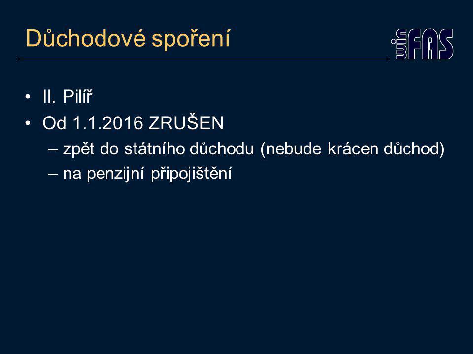 Důchodové spoření II.