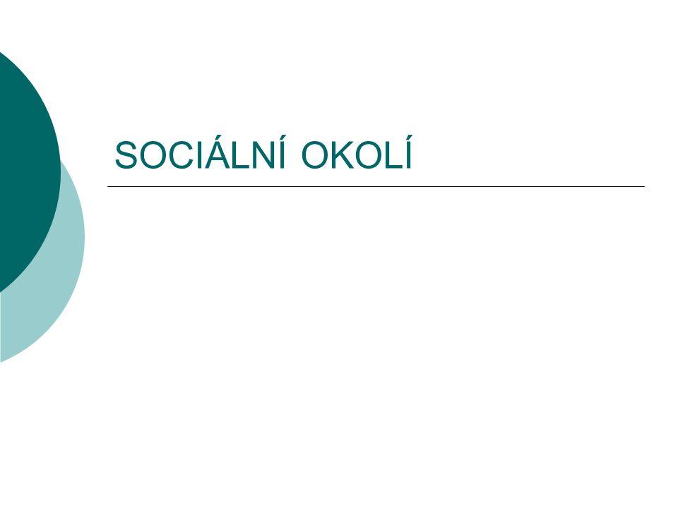 SOCIÁLNÍ OKOLÍ