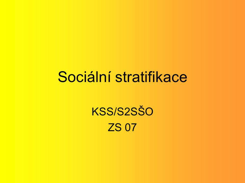 Sociální stratifikace KSS/S2SŠO ZS 07
