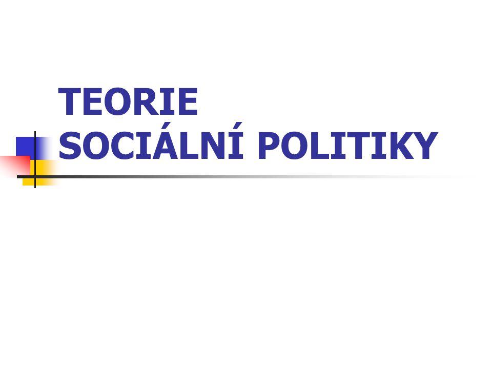 Vymezení sociální politiky rozlišuje tři přístupy: první přístup - charakteristické je široké pojetí sociální politiky, druhý přístup - sociální politika vymezována jako oblast (součást) hospodářské politiky, třetí přístup - představuje nejužší pojetí sociální politiky.