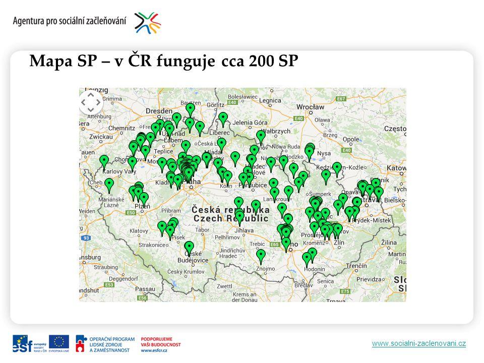 www.socialni-zaclenovani.cz Mapa SP – v ČR funguje cca 200 SP