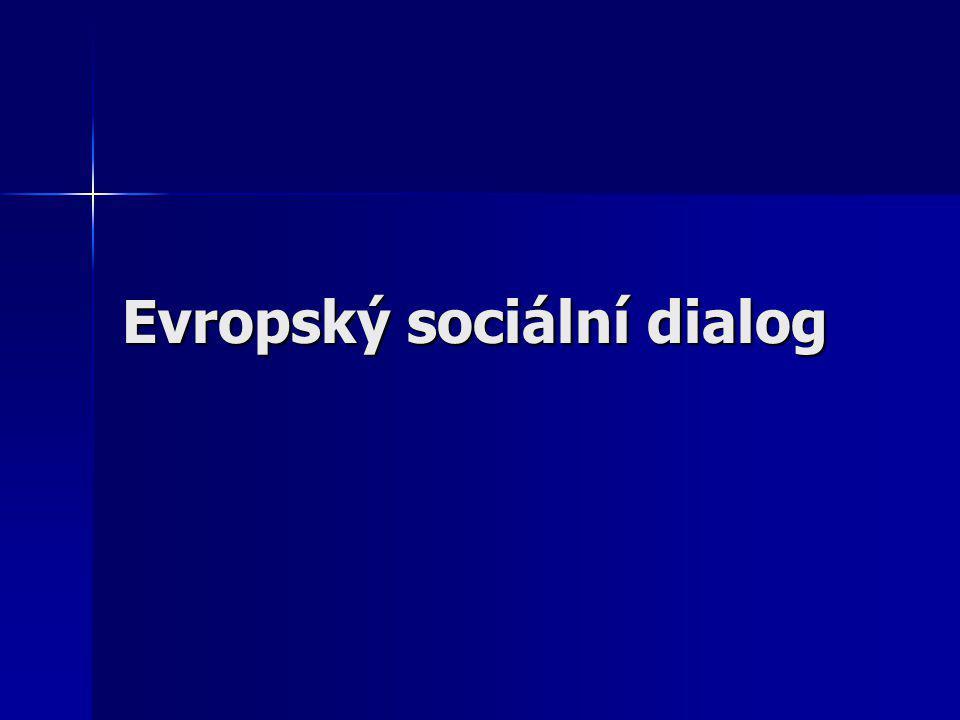 Evropský sociální dialog