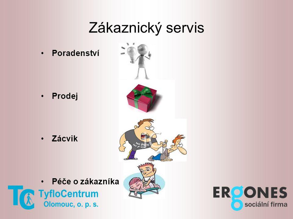 Zákaznický servis Poradenství Prodej Zácvik Péče o zákazníka