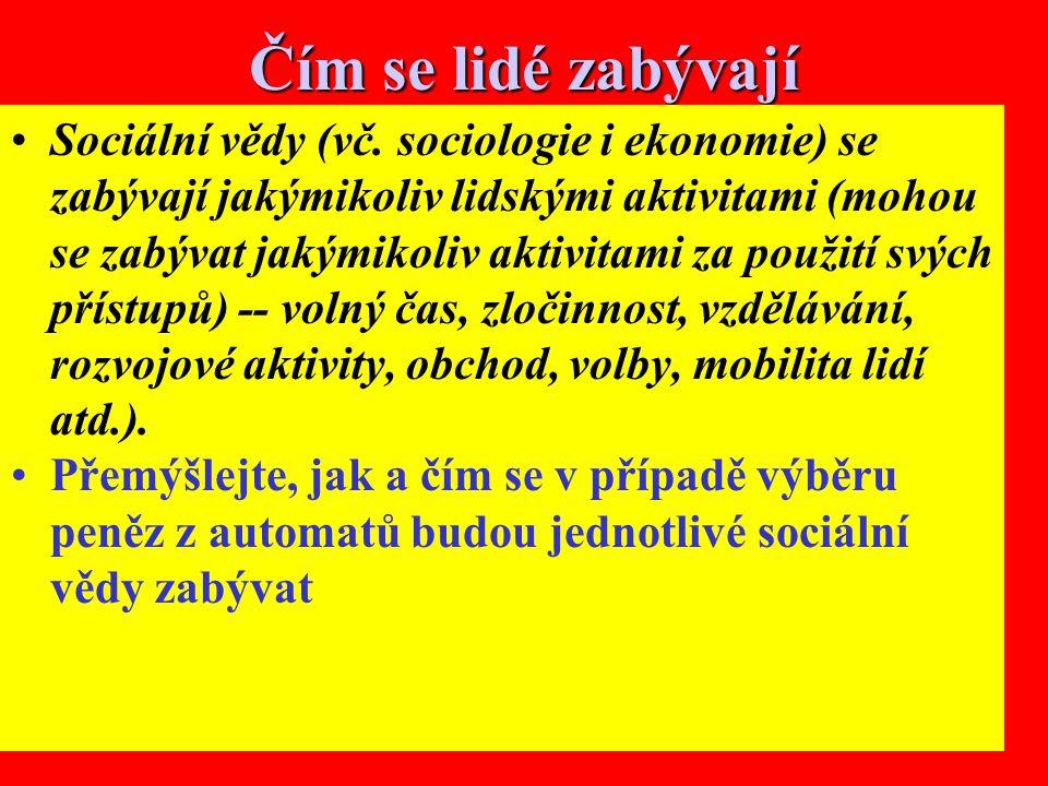 14 Čím se lidé zabývají Sociální vědy (vč.