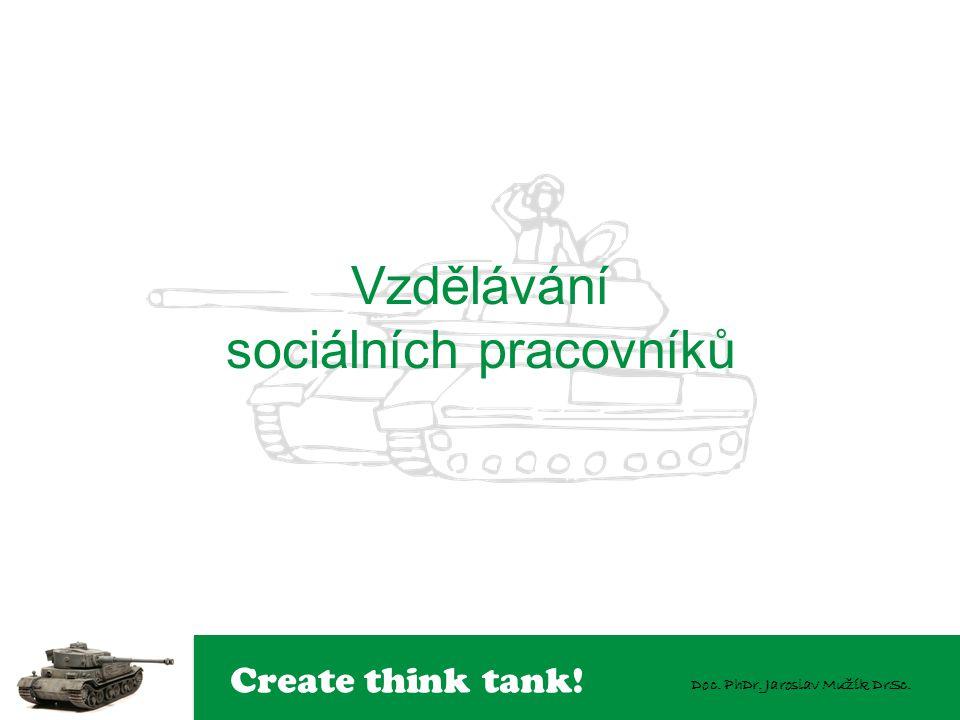 Create think tank! Doc. PhDr. Jaroslav Mužík DrSc. Vzdělávání sociálních pracovníků