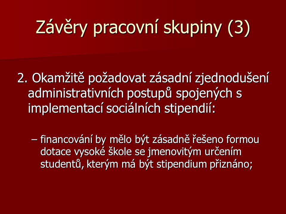Závěry pracovní skupiny (3) 2.