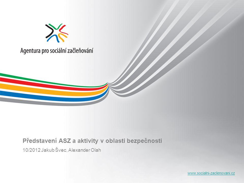 www.socialni-zaclenovani.cz Představení ASZ a aktivity v oblasti bezpečnosti 10/2012 Jakub Švec, Alexander Olah