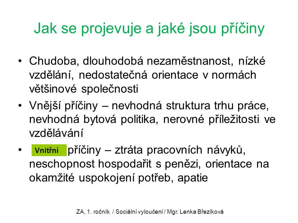 Jsou tvrzení správná.1.Sociální vyloučení se v ČR týká jen Romů.