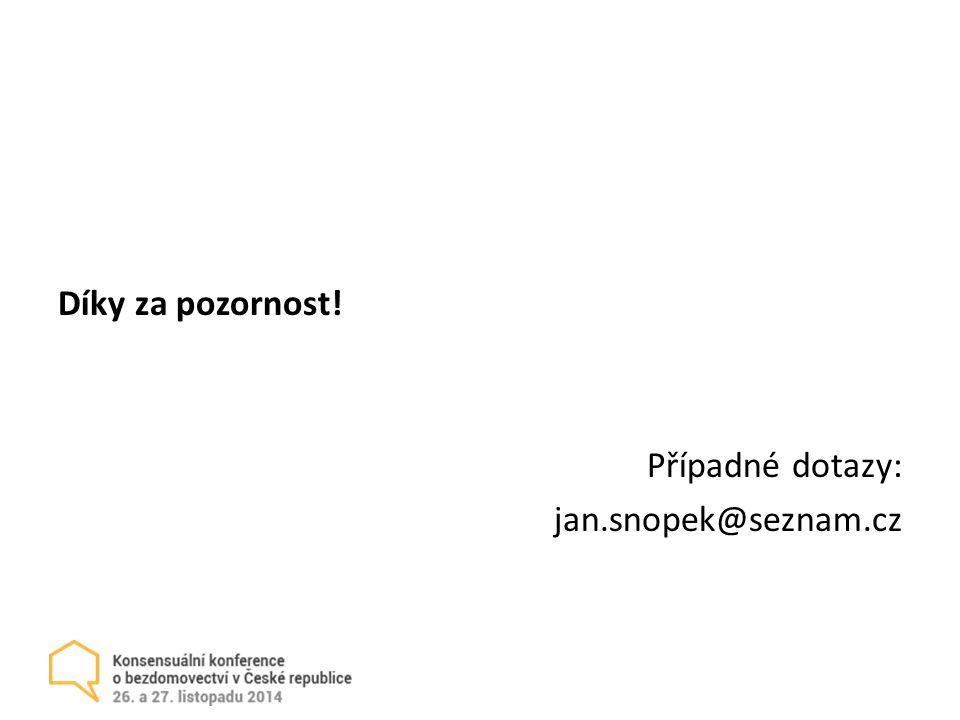 Díky za pozornost! Případné dotazy: jan.snopek@seznam.cz
