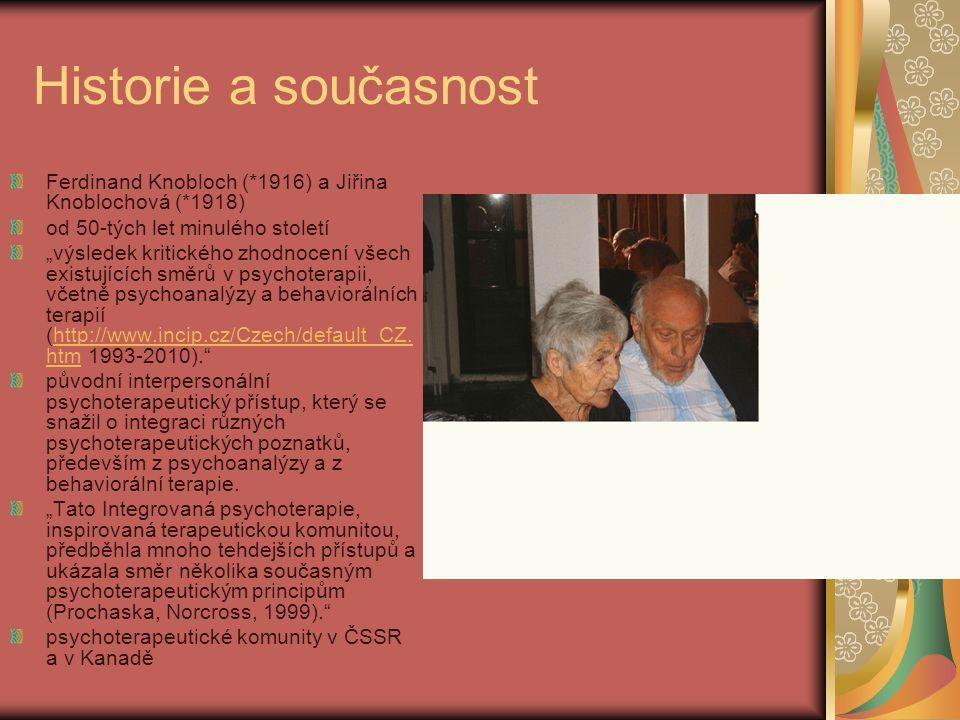 """Historie a současnost Ferdinand Knobloch (*1916) a Jiřina Knoblochová (*1918) od 50-tých let minulého století """"výsledek kritického zhodnocení všech ex"""