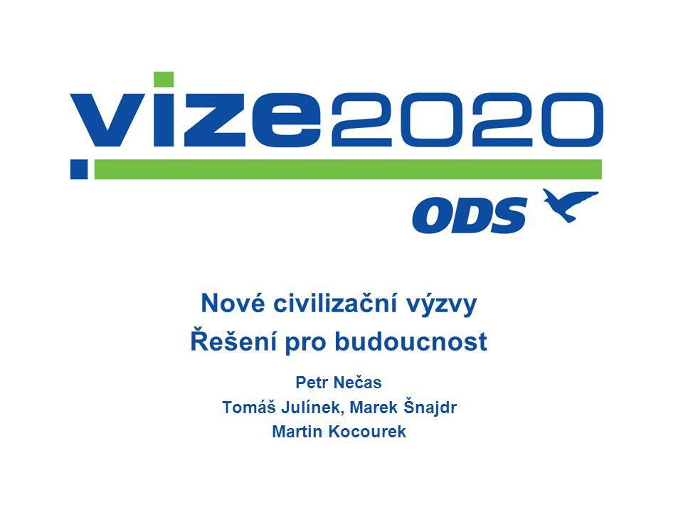 Nové civilizační výzvy Řešení pro budoucnost Petr Nečas Tomáš Julínek, Marek Šnajdr Martin Kocourek