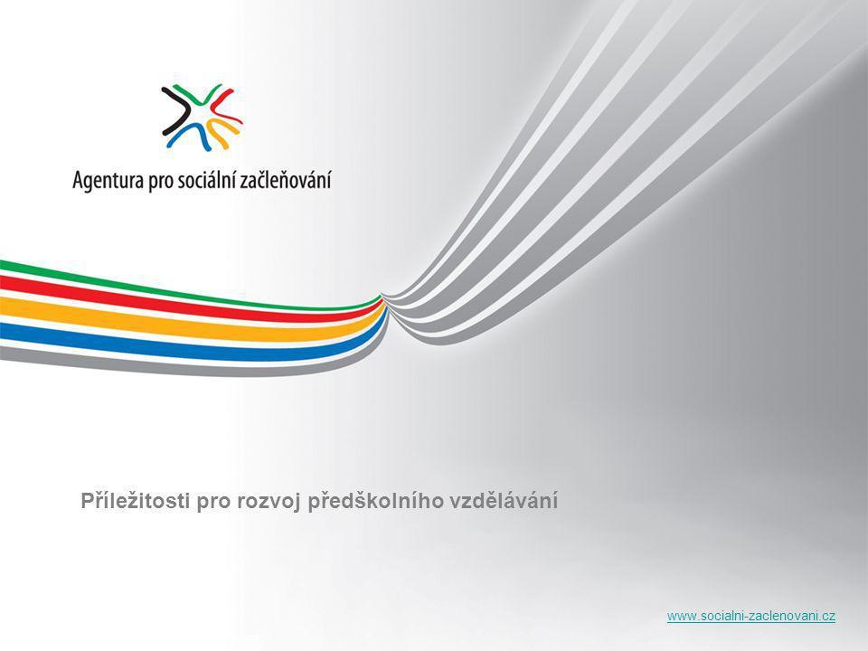 www.socialni-zaclenovani.cz Příležitosti pro rozvoj předškolního vzdělávání