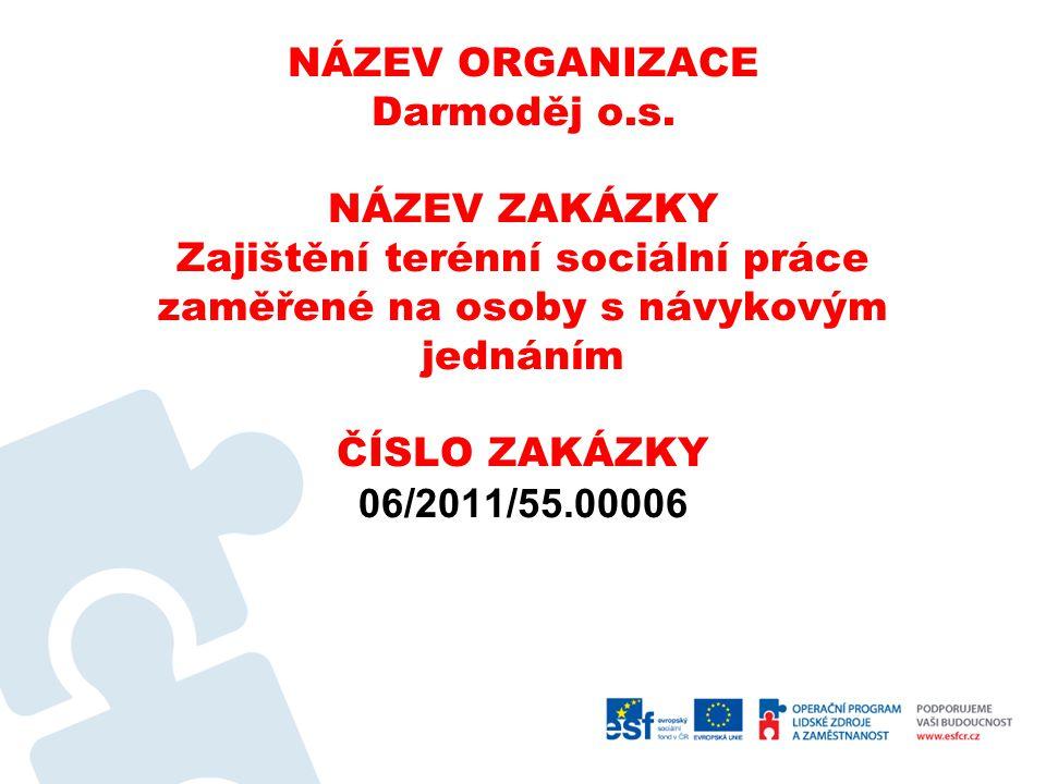 NÁZEV ORGANIZACE Darmoděj o.s.