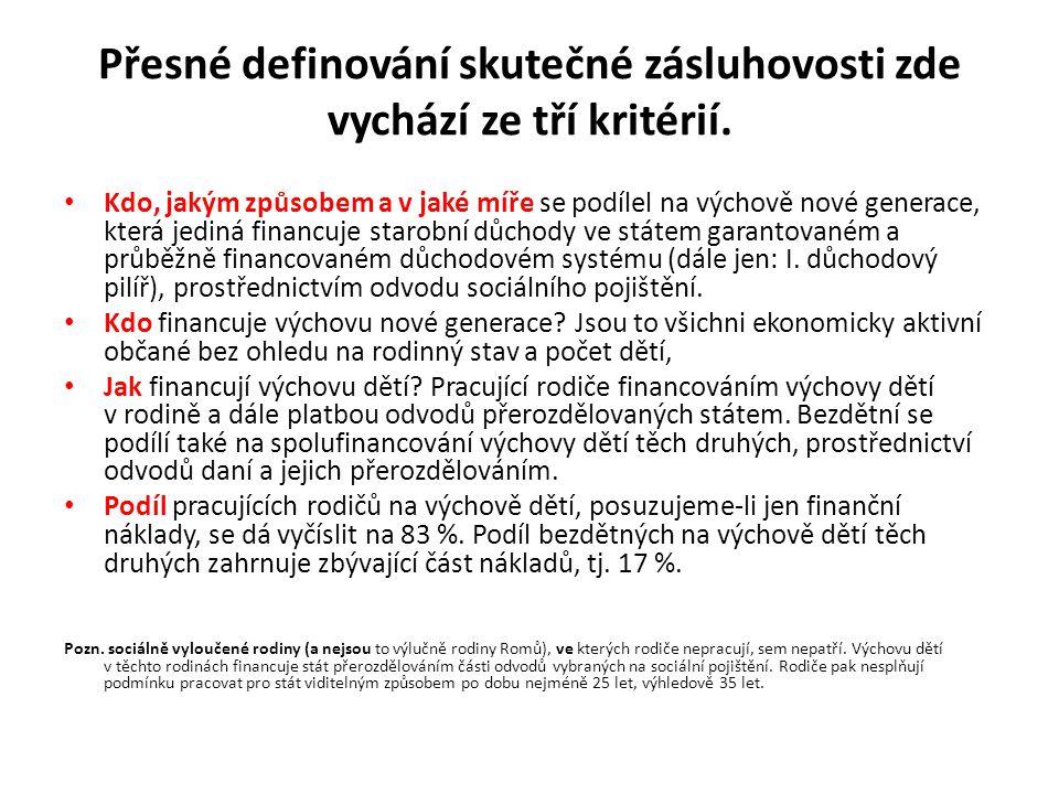 Trvalá udržitelnost I.důchodového pilíře.