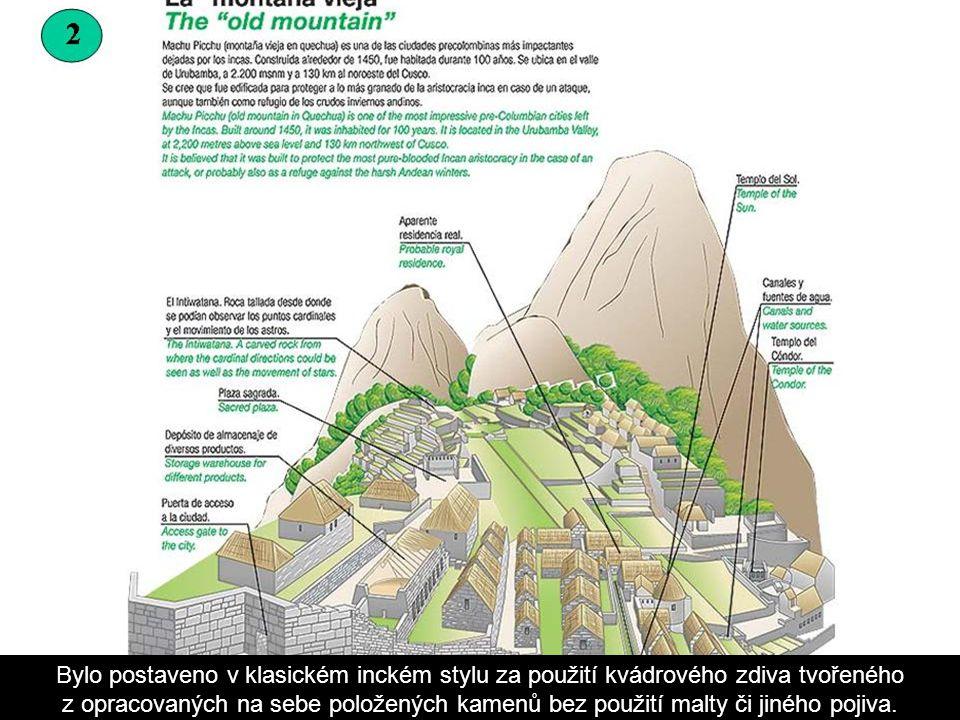 Machu Picchu [vyslov: maču pikču] – (Starý vrch) jsou ruiny předkolumbovského inckého kultovního města v peruánských Andách. Nacházejí se na horském s