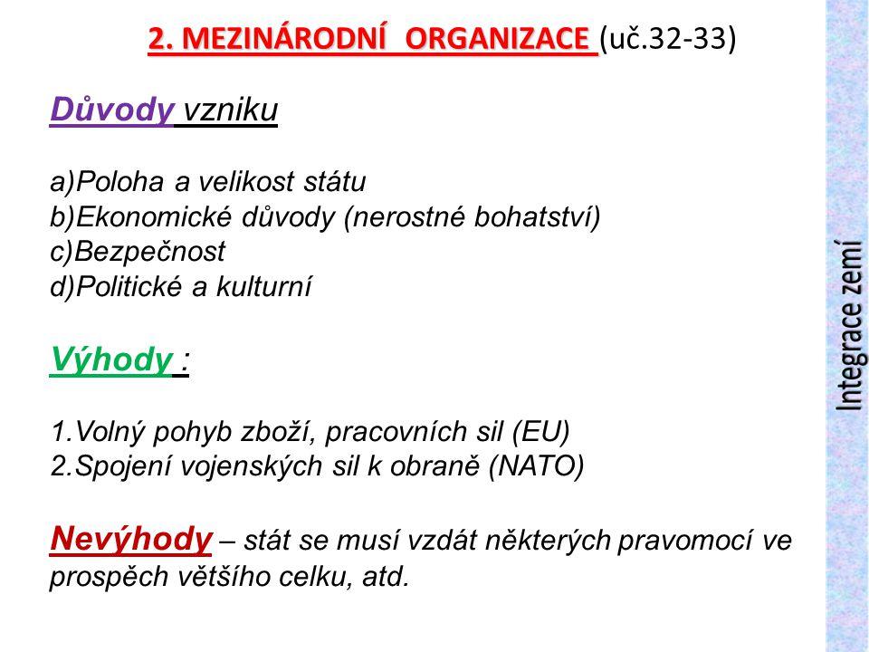 Uč.str.32, vypsat označené mezinárodní organizace : 3
