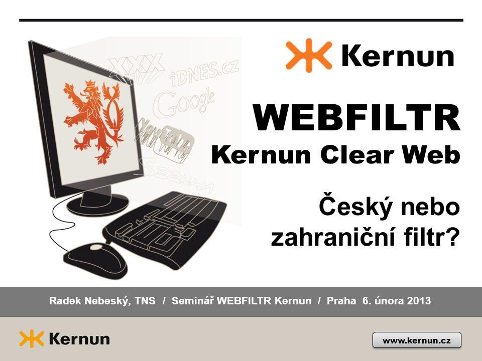 Podpora produktů Kernun na webech partnerů a distributora