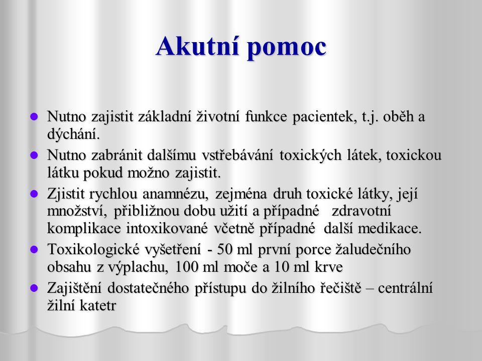 Akutní pomoc Nutno zajistit základní životní funkce pacientek, t.j.