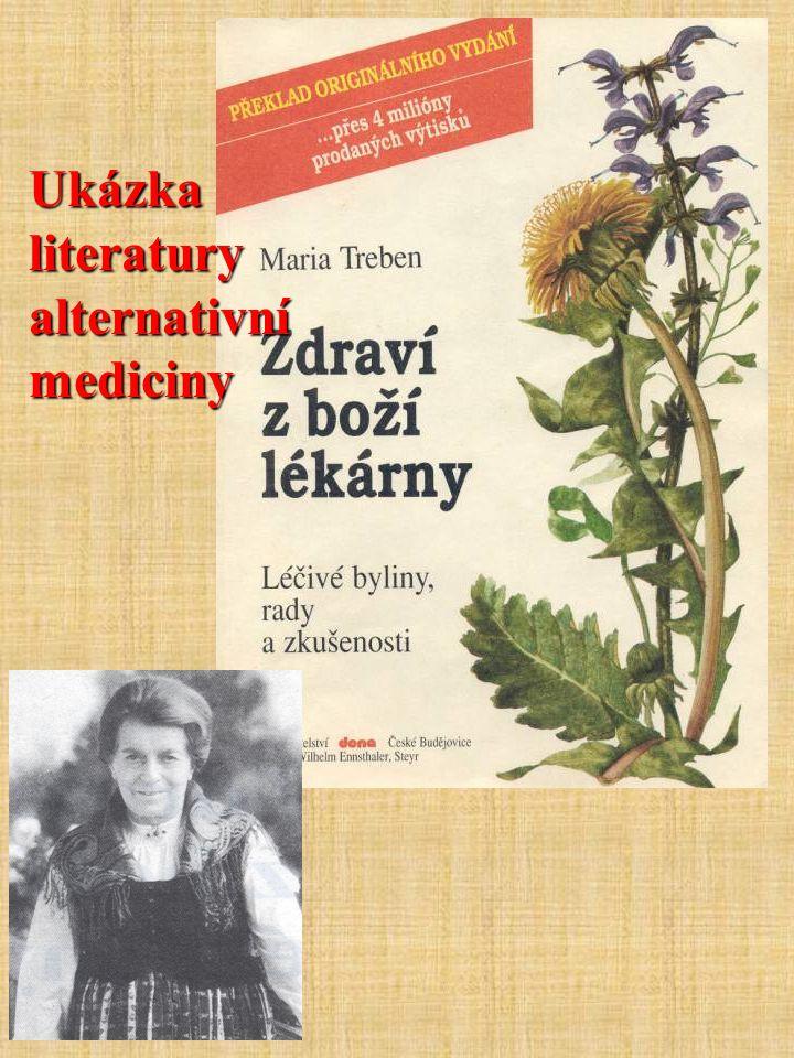 Ukázka literatury alternativní mediciny