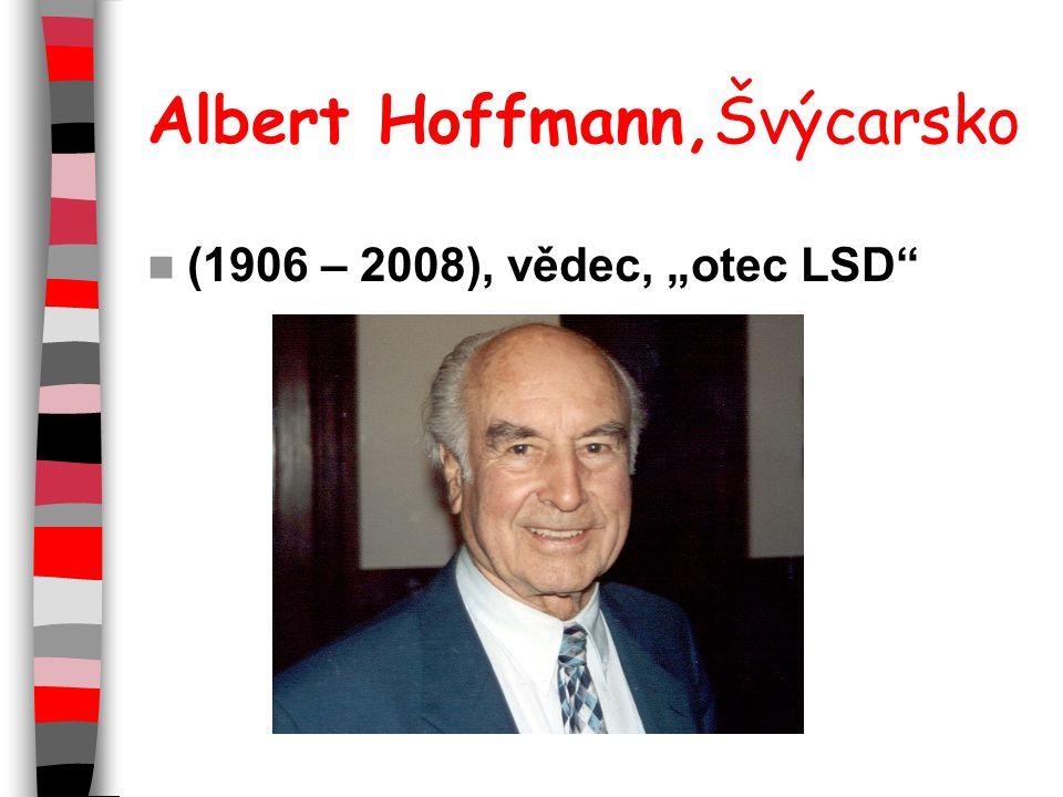 "Albert Hoffmann,Švýcarsko (1906 – 2008), vědec, ""otec LSD"