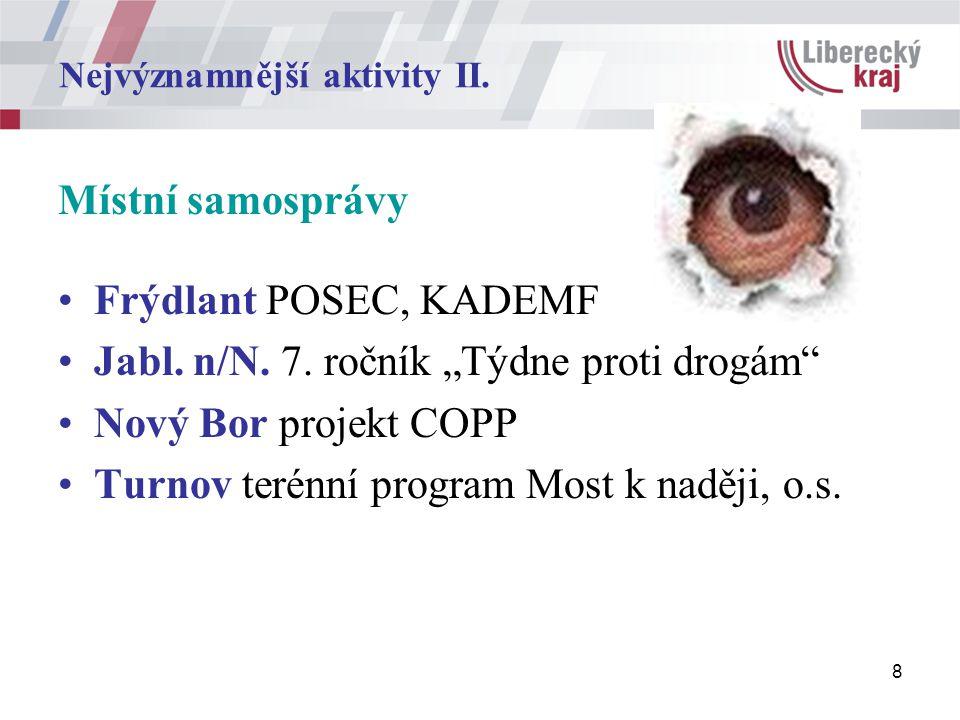 8 Místní samosprávy Frýdlant POSEC, KADEMF Jabl. n/N.