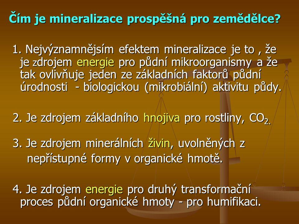 Čím je mineralizace prospěšná pro zemědělce.1.