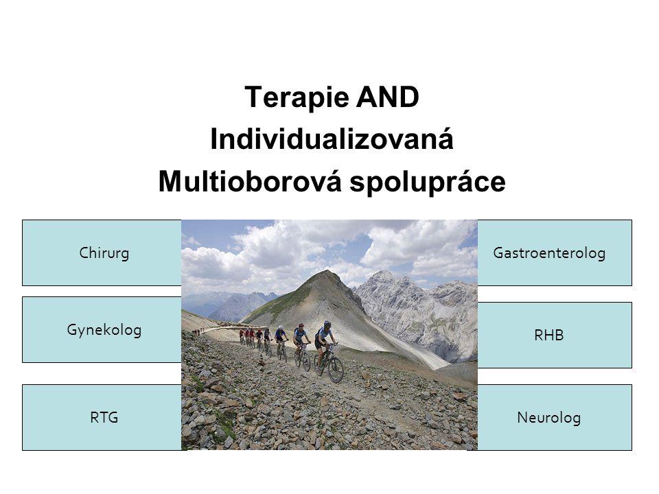 Terapie AND Individualizovaná Multioborová spolupráce Chirurg Gynekolog RHB Gastroenterolog NeurologRTG