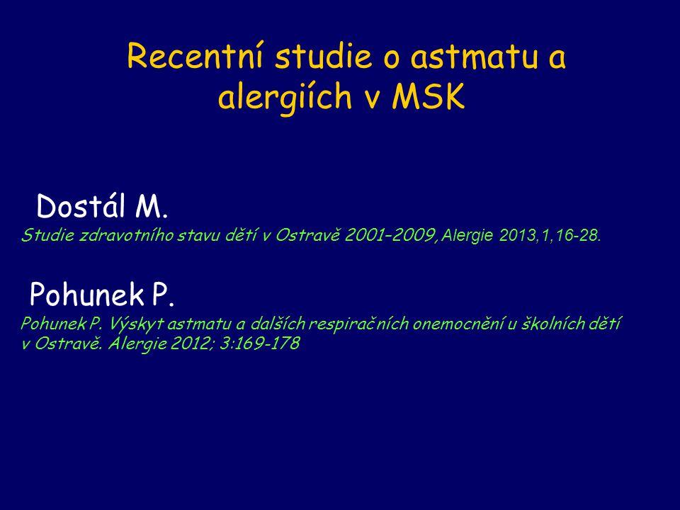 Recentní studie o astmatu a alergiích v MSK Dostál M.