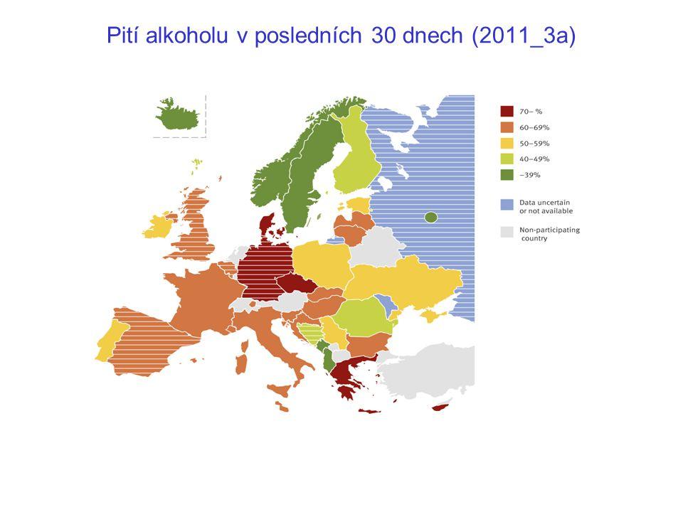 Pití alkoholu v posledních 30 dnech (2011_3a)
